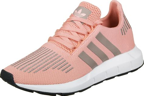 adidas run w shoes pink white