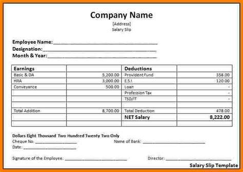 salary receipt template us 5 employee salary slip format sales slip template