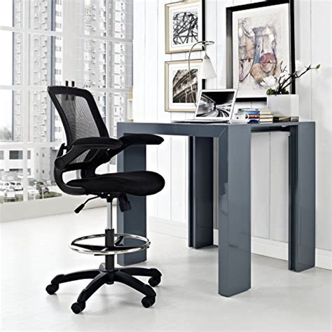 Drafting Table Office Depot Modway Veer Drafting Chair In Black Reception Desk Chair Office Chair For Adjustable