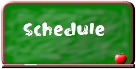 Schedule Clipart Free fifth grade daily schedule