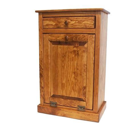 double trash recycling bin wood tilt trash can double trash bin with drawers