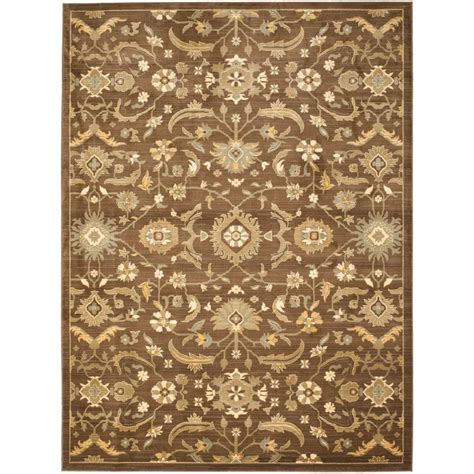 Brown And Green Area Rug by Safavieh Heirloom Brown Green 9 Ft 6 In X 13 Ft Area