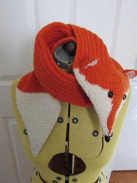 knitting pattern for scarf 8 ply free knitted fox scarf pattern thisnzlife
