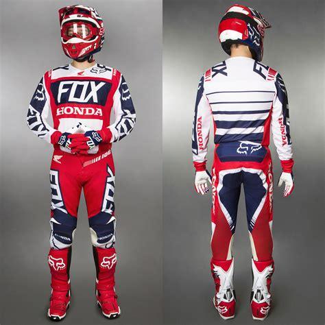 fox honda motocross gear fox jersey 180 honda red white 2017 maciag offroad