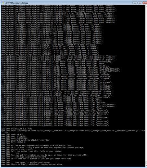 gulp format html angular2 issues running my gulp build to create a dist
