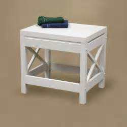 bloombety shower stool with white color design