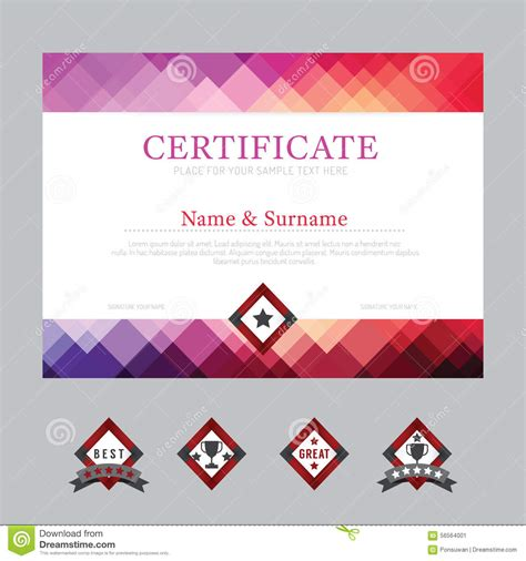 modern design layout vector certificate template layout background frame design vector