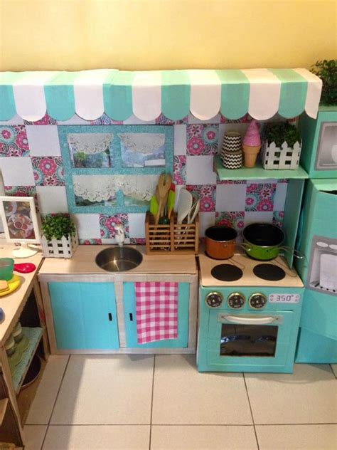 How To Make A Play Kitchen by You Won T Believe This Play Kitchen Is Made Out Of Boxes