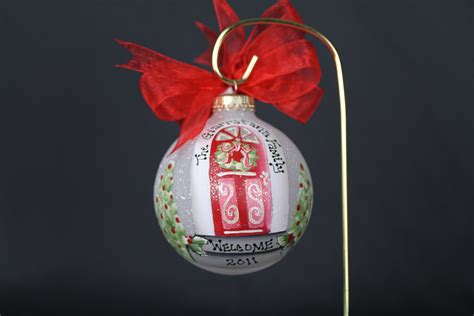 hand painted new home christmas ornament by