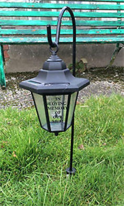 solar powered cemetery lights solar memorial lantern grave light