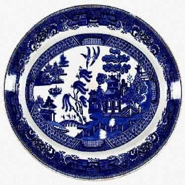 willow pattern with gold trim maddock john sons willow blue gold trim at