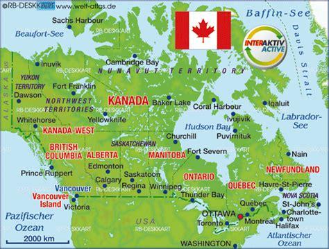 atlas map of canada karte kanada kanada karte auf welt atlas de