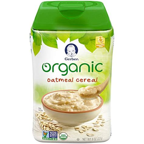 Gerber Rice Cereal Oatmeal Cereal gerber organic rice cereal with vitablocks clean label
