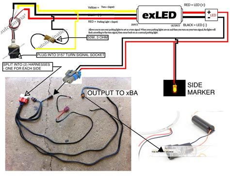 diagram for wiring led turn signals led light parts