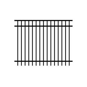 home depot fence sections jerith jefferson 5 ft h x 6 ft w black aluminum fence