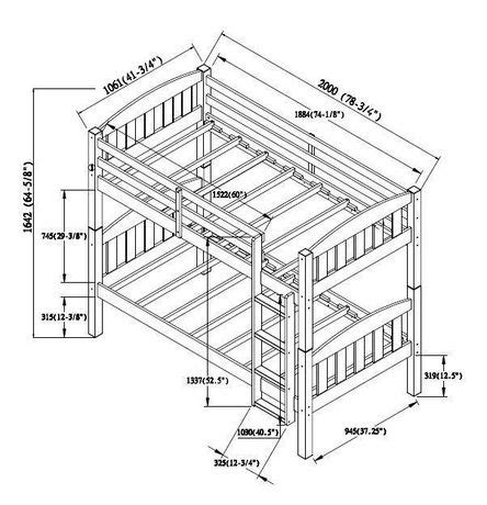 Standard Bunk Bed Size Mainstays Wood Bunk Bed Espresso Walmart Ca
