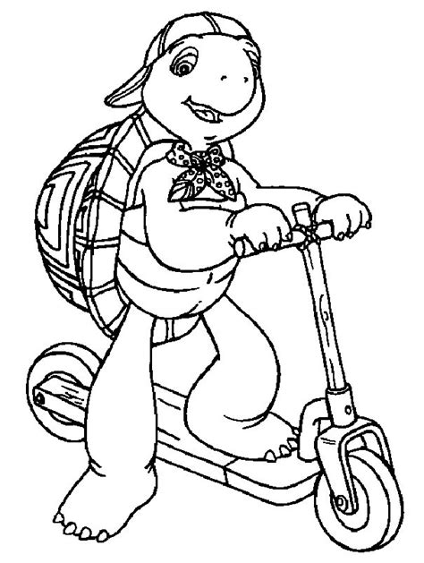 Franklin Coloring Pages franklin coloring pages coloringpages1001