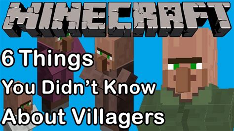 6 things you didn t know about villagers youtube