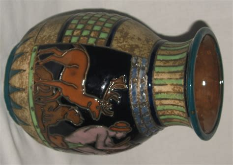 Austrian Vases Antique by A Jewelled Enamelled Austrian Hora Vase Of