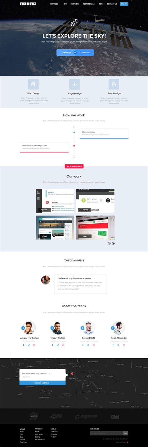 wordpress theme orion free orion html5 website template free html5 templates