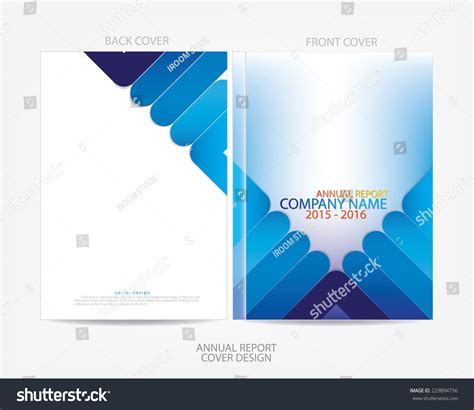 annual report cover page design sles annual report cover design stock vector 229894756
