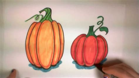 pumpkin drawings for learn how to draw easy pumpkins icanhazdraw