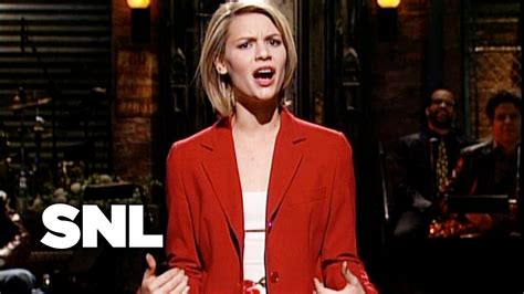 claire danes snl claire danes monologue saturday night live youtube