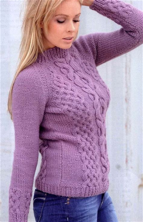 free knitting sweater patterns lovely cable knit sweater knitting bee