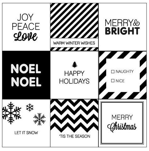 printable gift tags black and white modern christmas printable gift tags modern christmas
