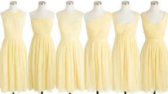 Acai purple and pale yellow bridesmaid dresses