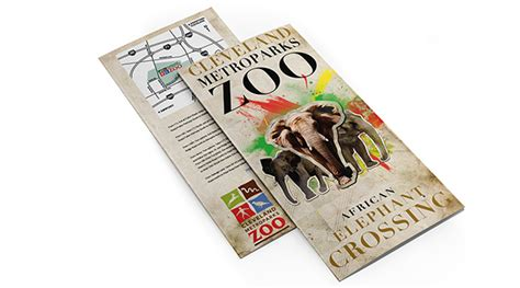 zoo brochure template cleveland zoo brochure on behance