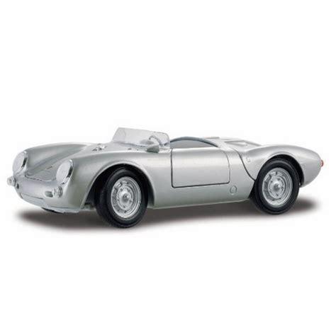 Porsche Spyder Convertible by Porsche 550 A Spyder Convertible Silver Maisto 31843