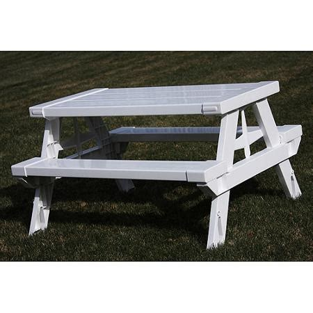 white picnic bench kidnic children s picnic table white ebay
