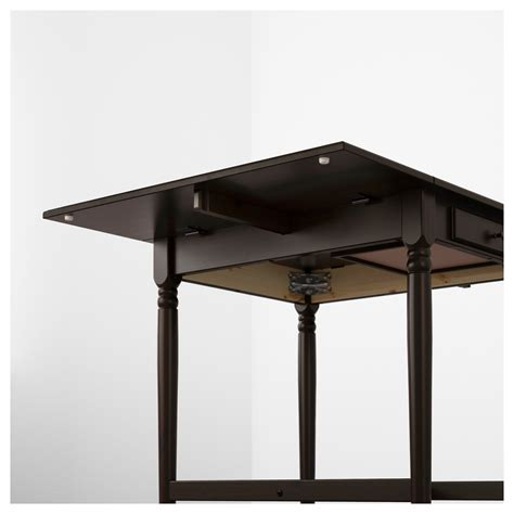 ikea ingatorp ingatorp drop leaf table black brown 59 88 117x78 cm ikea