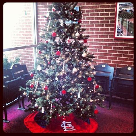 ponzi christmas trees marin cardinals themed tree in the springfield cardinals office holidays