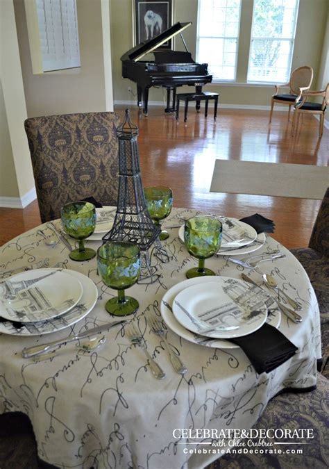 dining room tablescapes a paris inspired tablescape celebrate decorate