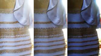 color dress white and gold black and blue it s turning the
