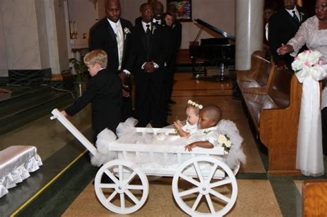 Buy a Hand Crafted Large Flower Girl Pumpkin Wagon, made