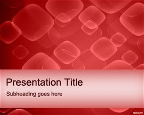 templates powerpoint blood red cells powerpoint template
