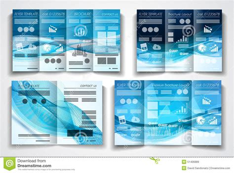 product layout company vector tri fold brochure template design or flyer layout