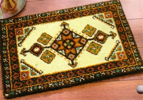 large latch hook rug kits geometric rectangular rug large latch hook vervaco 2570 39 310