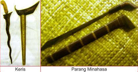 senjata tradisional sulawesi utara lengkap gambar