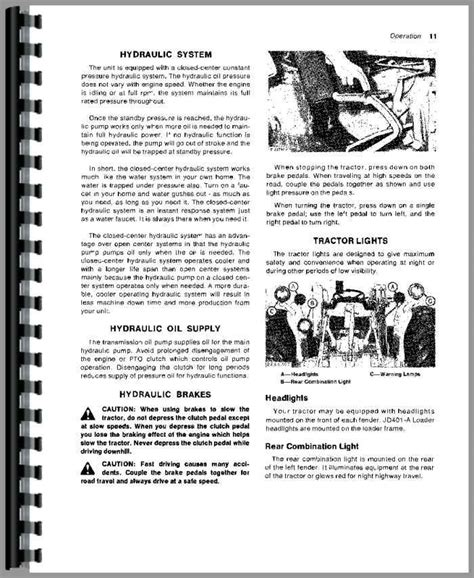 Equipment 401a by Deere 401a Industrial Tractor Operators Manual