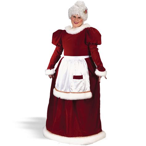 cheap velvet mrs claus plus adult costume at go4costumes com