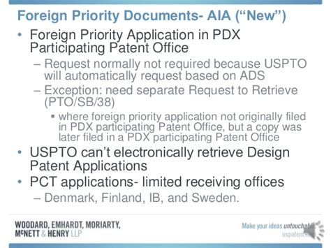 design application pct aia foreign priority presentation mar 20 2013