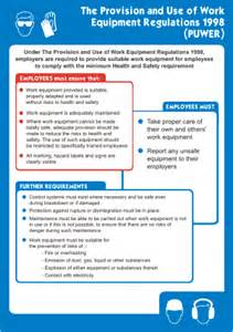 provision amp work equipment regulations health amp safety poster
