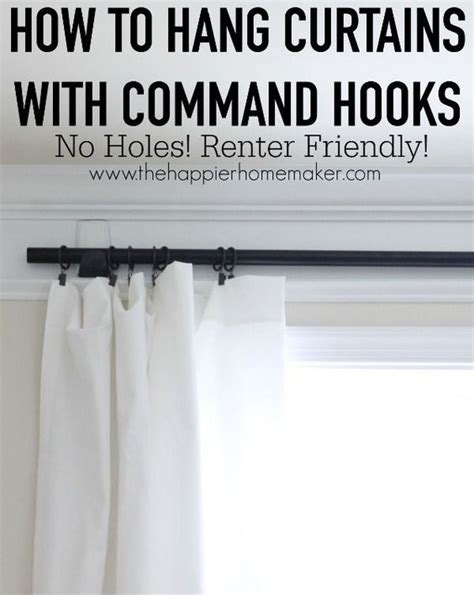 hanging curtains without holes hang curtains without an holes this is a perfect renter