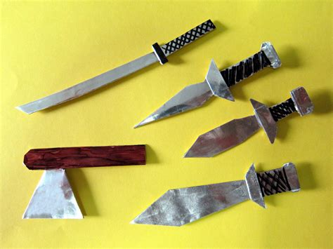 Origami Weapons - free coloring pages origami weapons all these models