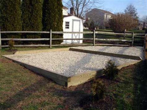 foundation  shed base gravel shed pinterest