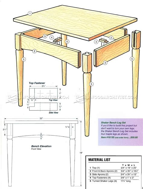 shaker bench plans shaker bench plans woodarchivist